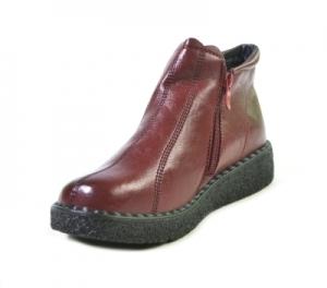 8855-9 красн ботинки женские